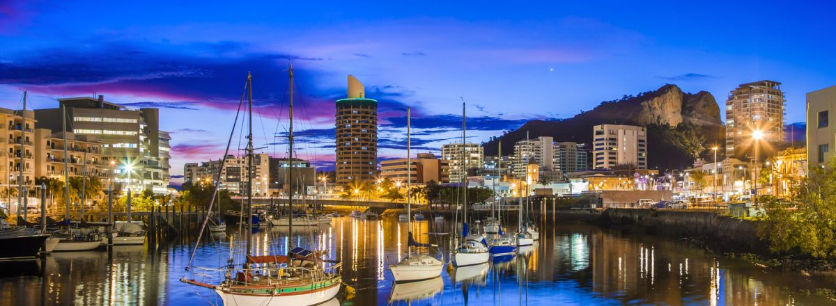 Townsville+City+and+Ross+Creek+at+Night+by+Megan+MacKinnon